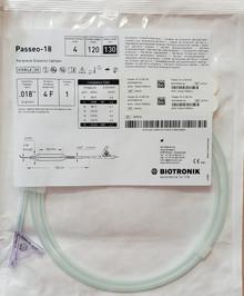 "BIOTRONIK 357510, Passeo-18, OTW PTA Balloon Catheter, 0.018"", 4Fr, Lenght 120mm, Usable length 130cm, box of 1"