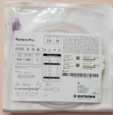 BIOTRONIK 393295, Pantera Pro, Coronary Dilatation Catheter, 3.00 mm X 10 mm X 140 cm, box of 01