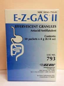 902001 EZEM E-Z Gas II Effervescent Granules, 793, Box of 50 packets