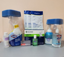 Essentials Kit PEK COVID-19, with Surgical Mask Tie Closure, 01 box of 50; 03 KN95 Face Masks, 02 Face Shield; Purell Hand Sanitizer 12 fl oz; 01 bottle; Purell Hand Sanitizer 2 fl oz; Isopropyl Alcohol 70%, 01 bottle of 4 fl 0z;  Purell Antibacterial Soap foam 18 fl oz, 01 bottle; Clorox Clean,Up® Disinfectant Cleaner with Bleach Spray, 32 fl oz, 01 bottle.  (C19PEK2)