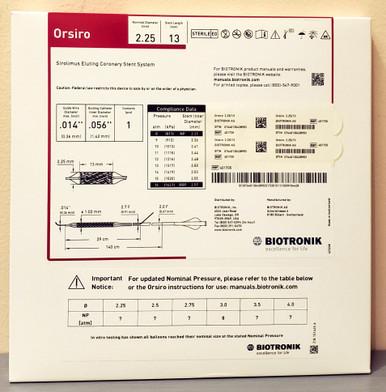 BIOTRONIK 401735 Orsiro Sirolimus Eluting Coronary Stent System 2.25 mm x 13 mm, Box of 01
