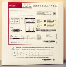 BIOTRONIK 401735 Orsiro Sirolimus Eluting Coronary Stent System 2.25 mm x 13 mm, Box of 01