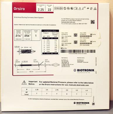 BIOTRONIK 401753 Orsiro Sirolimus Eluting Coronary Stent System 2.25 mm x 22 mm, Box of 01
