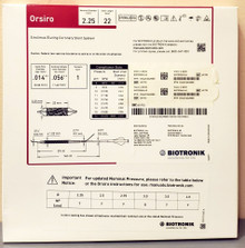 BIOTRONIK 401753 Orsiro Sirolimus Eluting Coronary Stent System 2.25 mm x 22 mm, Box of 01