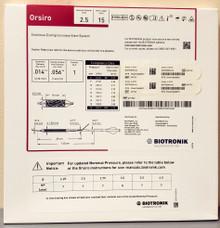 BIOTRONIK 401742 Orsiro Sirolimus Eluting Coronary Stent System 2.50 mm x 15 mm, Box of 01