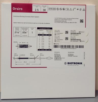 BIOTRONIK 401766 Orsiro Sirolimus Eluting Coronary Stent System 2.50 mm x 30 mm, Box of 01