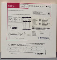 BIOTRONIK 401737 Orsiro Sirolimus Eluting Coronary Stent System 2.75 mm x 13 mm, Box of 01