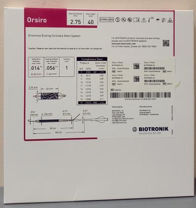 BIOTRONIK 404674 Orsiro Sirolimus Eluting Coronary Stent System 2.75 mm x 40 mm, Box of 01