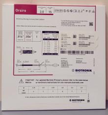 BIOTRONIK 401744 Orsiro Sirolimus Eluting Coronary Stent System 3.0 mm x 15 mm, Box of 01