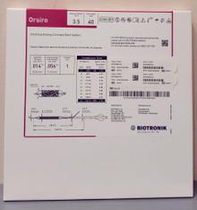 BIOTRONIK 404676 Orsiro Sirolimus Eluting Coronary Stent System 3.5 mm x 40 mm, Box of 01