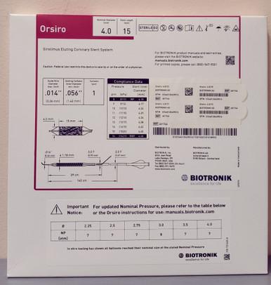 BIOTRONIK 401746 Orsiro Sirolimus Eluting Coronary Stent System 4.0 mm x 15 mm, Box of 01