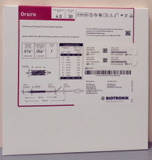 BIOTRONIK 401770 Orsiro Sirolimus Eluting Coronary Stent System 4.0 mm x 30 mm, Box of 01
