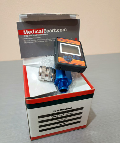 LEMATEC DAR01B, X0018207ZJ, Digital Air Gauge Regulator with Locking Adjustment Valve for Air Compressors, Box of 01