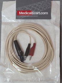 Medtronic 5833SL Surgical Cable, Disposable, small clip, long, Length 12 ft (366 cm). Pack of 05