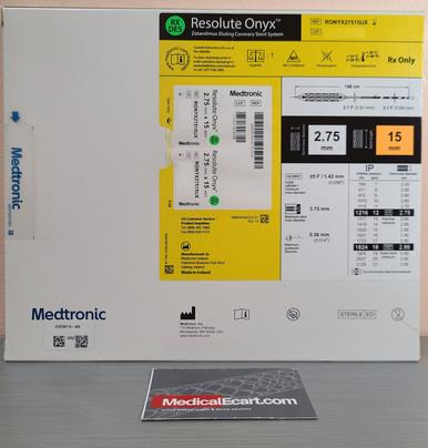 Medtronic RONYX27515UX Resolute Onyx™ Drug-Eluting Stent 2.75mm x 15mm. Box of 01