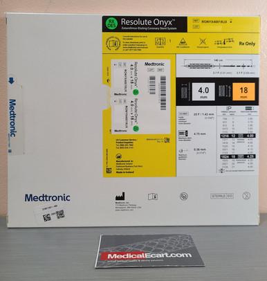 Medtronic RONYX40018UX Resolute Onyx™ Drug-Eluting Stent 4.0mm x 18mm. Box of 01