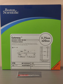 Boston Scientific M0032072420370 Gateway™ 207242037, OTW PTA Balloon Catheter 3.75 mm x 20 mm, Box of 01