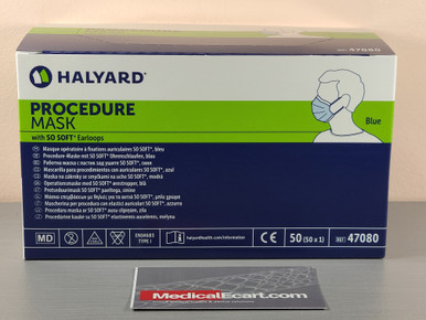 47080 Halyard ™ SO S0FT* Earloops, Surgical Mask
