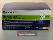 62114 Halyard  Fluidshield Fog-Free Surgical Mask with WrapAround Visor