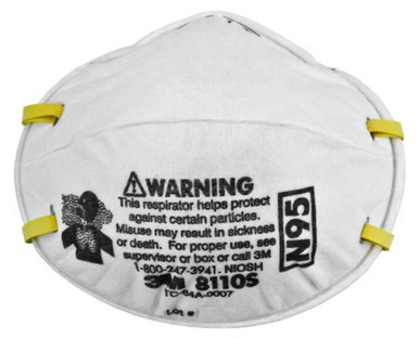 3M 8110S Particulate Respirator, Mask N95