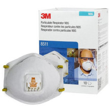 3M 8511 Particulate Respirator, Mask N95, with Valve Cup Elastic Strap