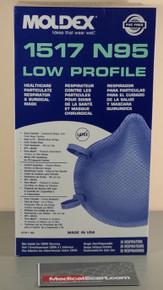 Moldex-Metric 1517 Surgical Respirator N95, Cup, Elastic Strap, Medium, Box of 20