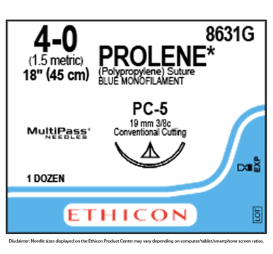Ethicon 8631G PROLENE® Polypropylene Suture