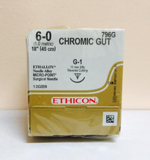 Ethicon 796G Surgical Gut Suture - Chromic