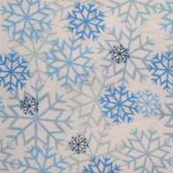 Snowflakes Flannel Fabric