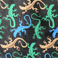 Lizards on Black Flannel