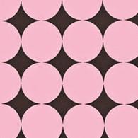 Big Pink & Brown Dots Fabric