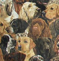 Real Dogs Fabric