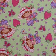 Strawberry Girl on Green Fabric