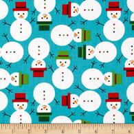 Jingle Snowmen Fabric