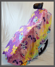 Pretty Pony- Fleece Wheelchair Poncho