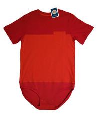 sz 8/10 Body Suit- (Altered) Circo Red & Orange Pocket Tee