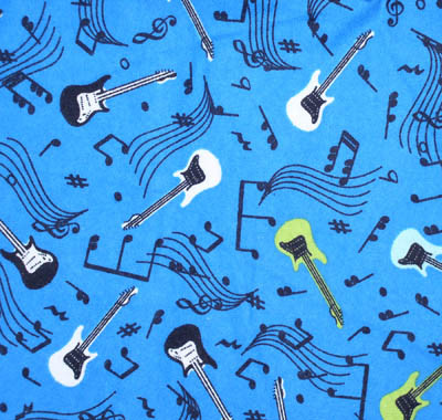 Electric Guitars on Blue Flannel