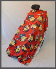 Minion Pirates Red- Fleece Wheelchair Poncho