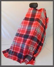 Gray & Red Plaid- Fleece Wheelchair Poncho
