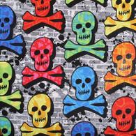 Small Soaker Bib- Rainbow Skulls