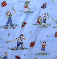 Little Baseball Kids Fabric