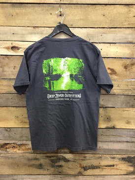 Deep River Ogeechee River short sleeve pocket tee in Comfort Colors Graphite.