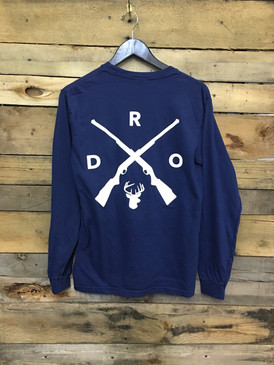 DRO-X-Deer long sleeve tee in Comfort Colors Midnight.