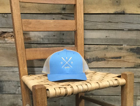 DRO X Logo Kayak Columbia Blue and Khaki  Hat