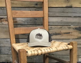 DRO Trees and Stream Logo Khaki and Coffee Hat