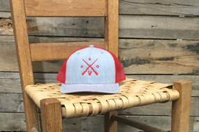 DRO X Logo Deer Heather Grey and Red  Hat