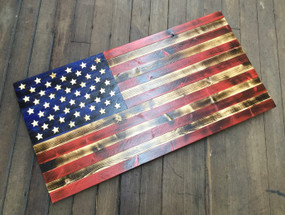 Georgia Made American Flag Wall Art