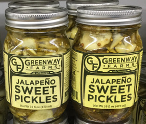 Greenway Farms Jalapeño Sweet Pickle Chips