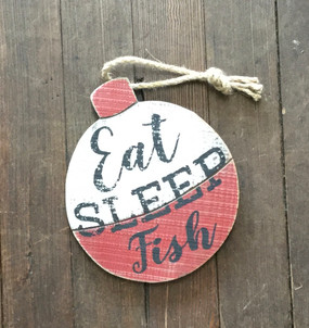 Eat Sleep Fish Cork Sign