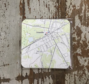 Paper Coasters - Tennille Map